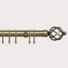 25-28mm Pristine Antique Brass Cage Extendable Metal Pole Set
