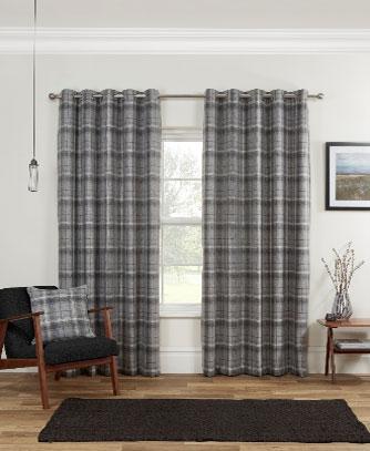 Carmoustie-Readymade-Curtain—Gray