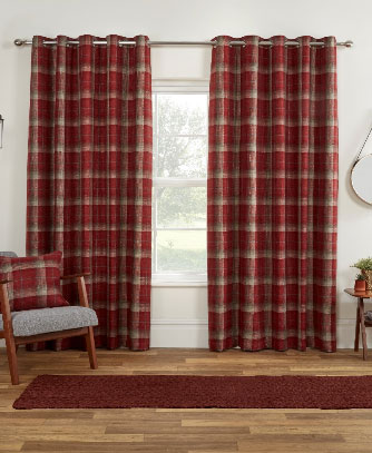 Carmoustie-Readymade-Curtain—Red