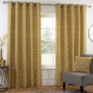 Kelso Readymade Curtain – Ochre