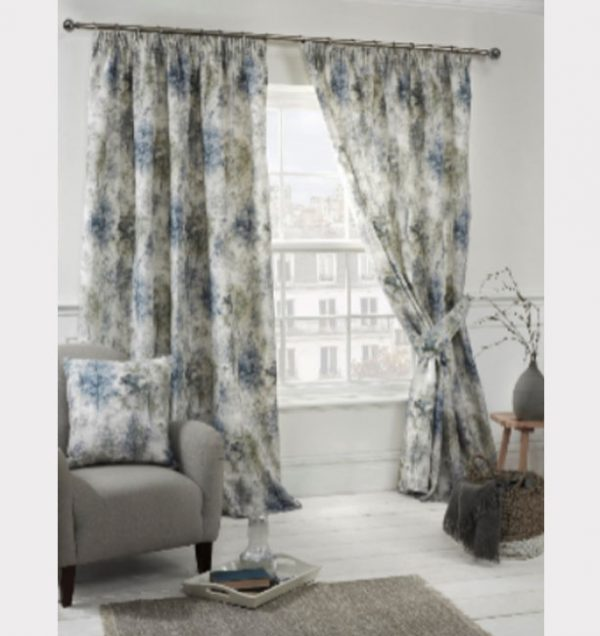 Woodland-Readymade-Curtain—Blue