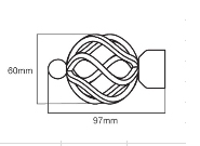 28mm Poles Apart Finial Cage