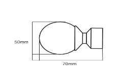 28mm Poles Apart Finial Ball – Pack of 2